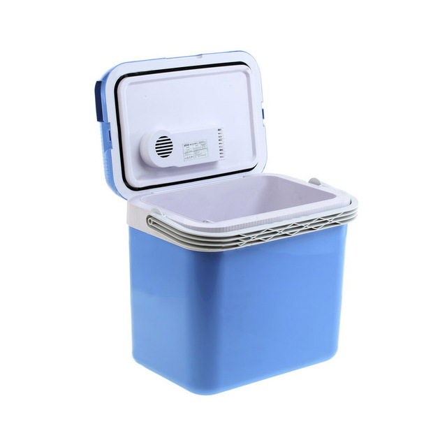 Холодильник автомобильный MYSTERY MTC-32 (Напряжение питания 12В/220В, объем 32 л, макс.мощность 50 Вт, охлаждение на 14-16°С ниже окружающей среды, нагрев до +55°С, антибактериальное внутреннее покрытие)