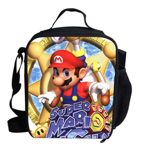 2017  Cute Cartoon Bag Super Mario Cooler Lunch For Kids School Boys Girls Thermal Bags Children Gifts