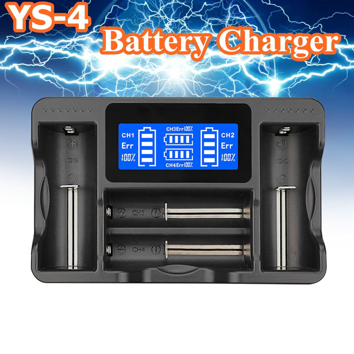 Lii AA AAA Battery Charger Ni-MH lithium Smart Battery Charger LCD 18650 22650 26650 18650 18350 14500 ...