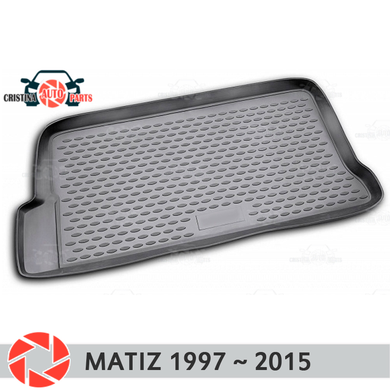 цена на Trunk mat for Daewoo Matiz 1997~2015 trunk floor rugs non slip polyurethane dirt protection interior trunk car styling