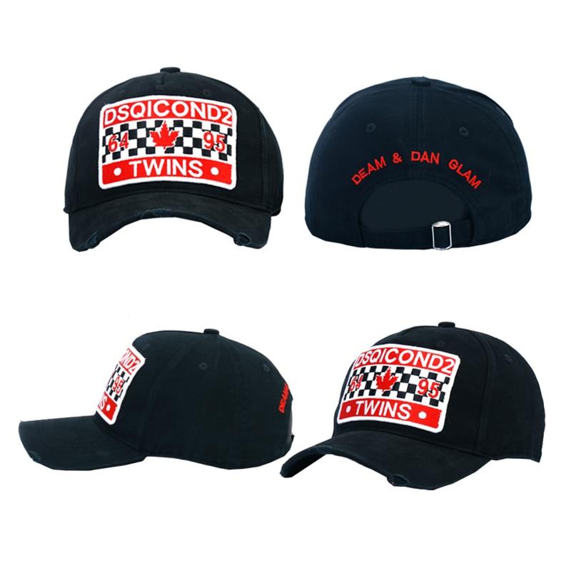 Dsqicond2 applique algodón Gorras de béisbol DSQ letras de béisbol negro  casquillo hombres womenbonnet hombre boina sombreros camión sombreros en  Gorras de ... 4e727f47197