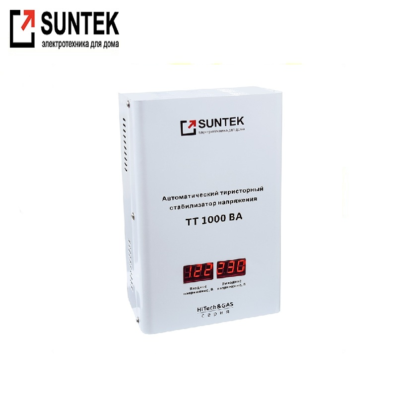 Voltage stabilizer thyristor SUNTEK HiTech & GAS 1000 VA AC Stabilizer Power stab Stabilizer with thyristor amplifier цена и фото