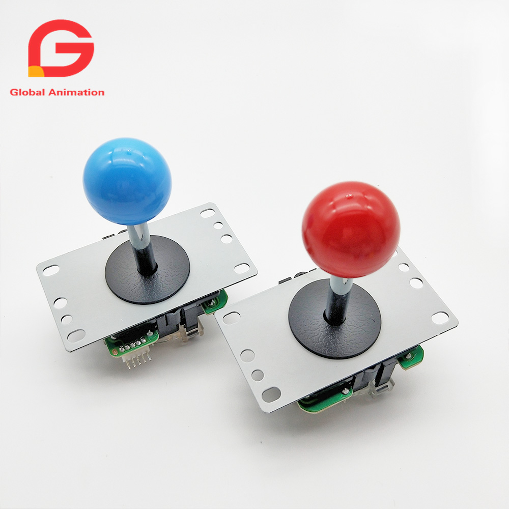 2 PCS Copy Sanwa High Quality 5Pin 8way Long Stick Joystick With Multi Color Ball For Arcade Game Machine Pandora Box Console