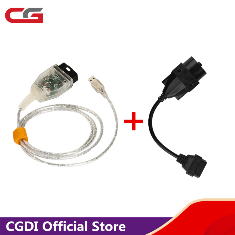 INPA K+DCAN For BMW With FT232RQ Chip With Switch Plus 20pin To 16pin OBD2 Adaptor Connector Cable For BMW  Free Shipping