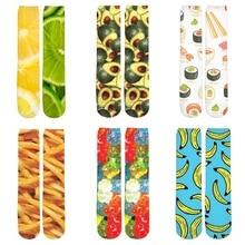 2019 New Fashion Men/Women 3d Printed Sock Food Fruit Lemon/Apple/Orange/Sushi/Pizza Ankle Socks Autumn Winter Thick