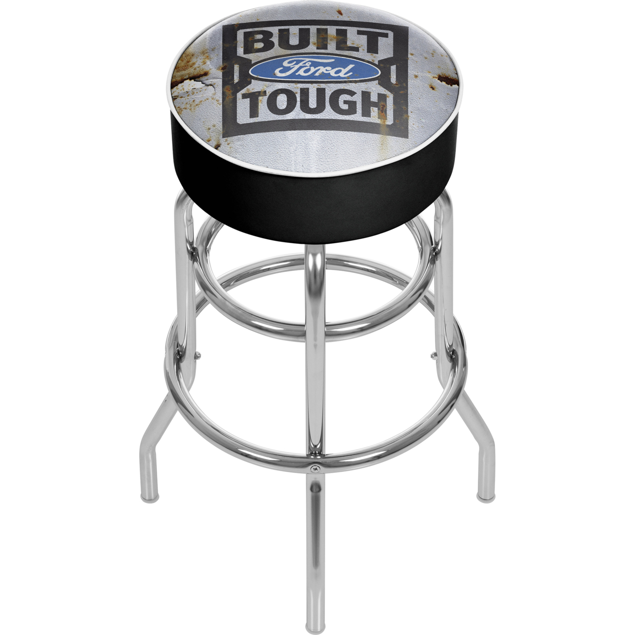 Ford Padded Swivel Bar Stool 30 Inches High - Built Ford Tough