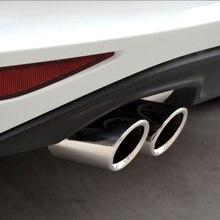 Глушитель выхлопной трубы из нержавеющей стали, автомобильные аксессуары для VW Volkswagen Golf 7 MK7,JETTA MK6 ,GOLF 6,1.4T 2012 - 2015