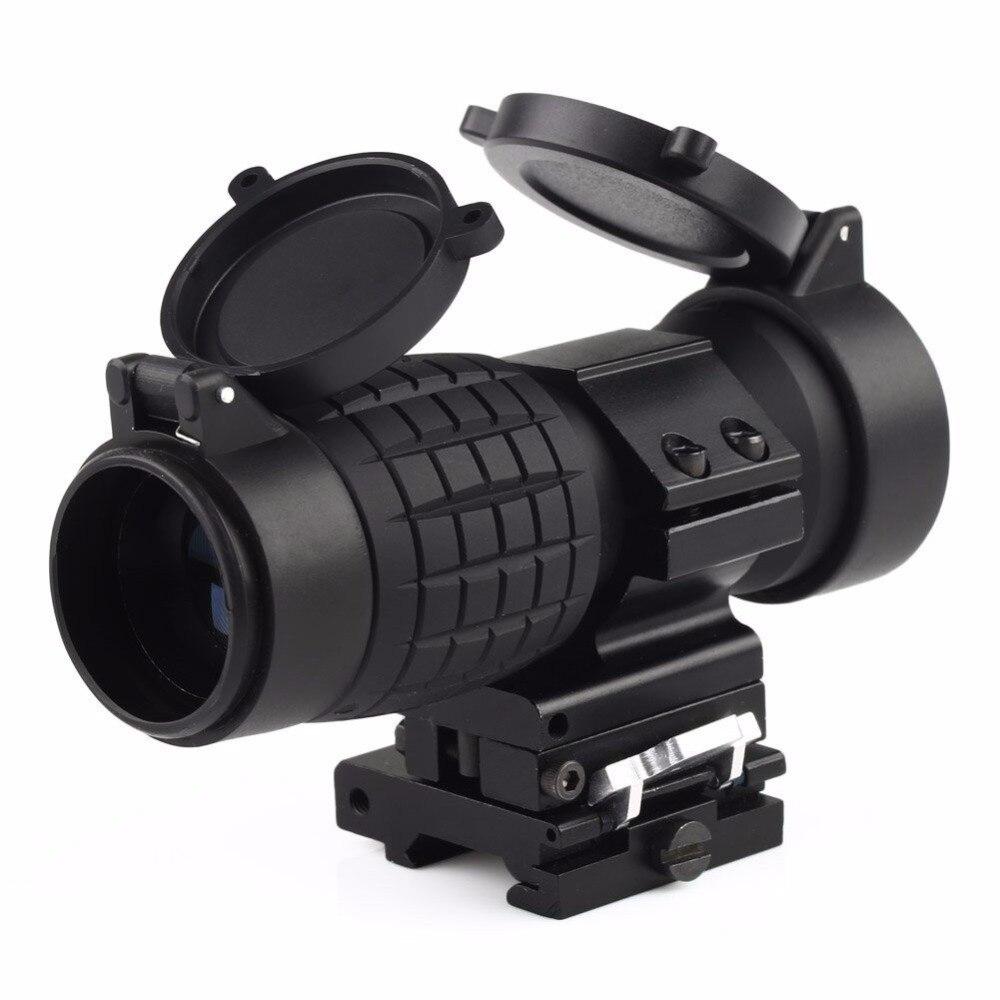 Тактический 30 мм 3X лупа прицелы оптика фокус регулируется подходит Красный точка зрения с Пикатинни Вивер рейку с крышкой