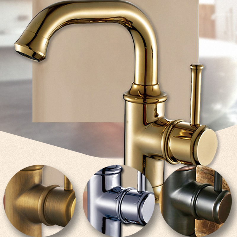 цена на Kitchen Faucet , Antique Brass , Polished Gold , Polished Chrome , Oil Rubbed Bronze / Black , 2011