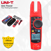 UNI T UT256B 200A True RMS Fork Meter; AC/DC Ammeter, Resistance/Capacitance/NCV/Diode Test, LCD Backlight