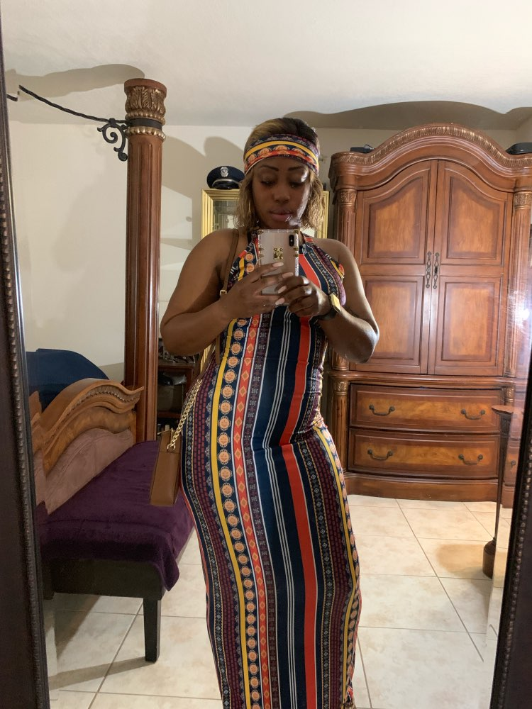 Striped Printed Vintage Bohemian Dress Women O Neck Sleeveless Plus Size Dress Casual Vocation Maxi Dress With Head Scarf photo review