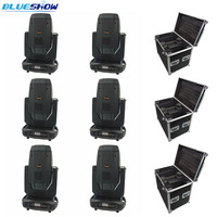 No tax custom 6pcs/flightcase, Sharpy Beam Lyre 17r Beam Spot Wash 3in1 350w LED Moving Head Light DJ DMX512 Sound
