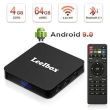 Boîtier TV Leelbox Q4 Plus intelligent 4 K Ultra HD 4G 64G Android 9.0 film WIFI Google Cast Netflix lecteur multimédia décodeur