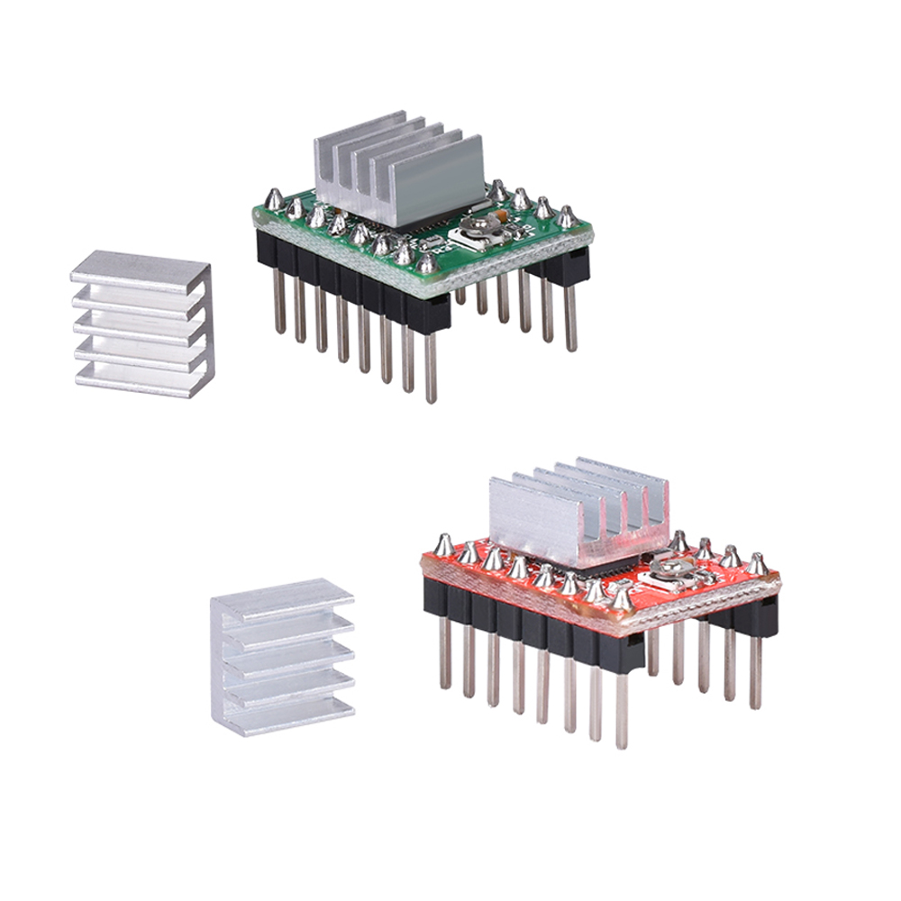 3D Printer Parts A4988 DRV8825 Stepper Motor Driver with Heat Sink for SKR V1.3 1.4 GTR V1.0 RAMPS 1.4 1.6 MKS GEN V1.4 Board A4988 Green