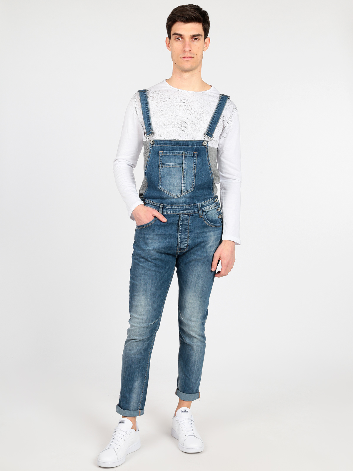 Denim Overalls Men