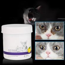 100 шт влажные салфетки для глаз для домашних животных, для кошек, собак, для удаления пятен, нежные, не пугающие, чистящие салфетки для домашних животных, бумажные полотенца для уборки