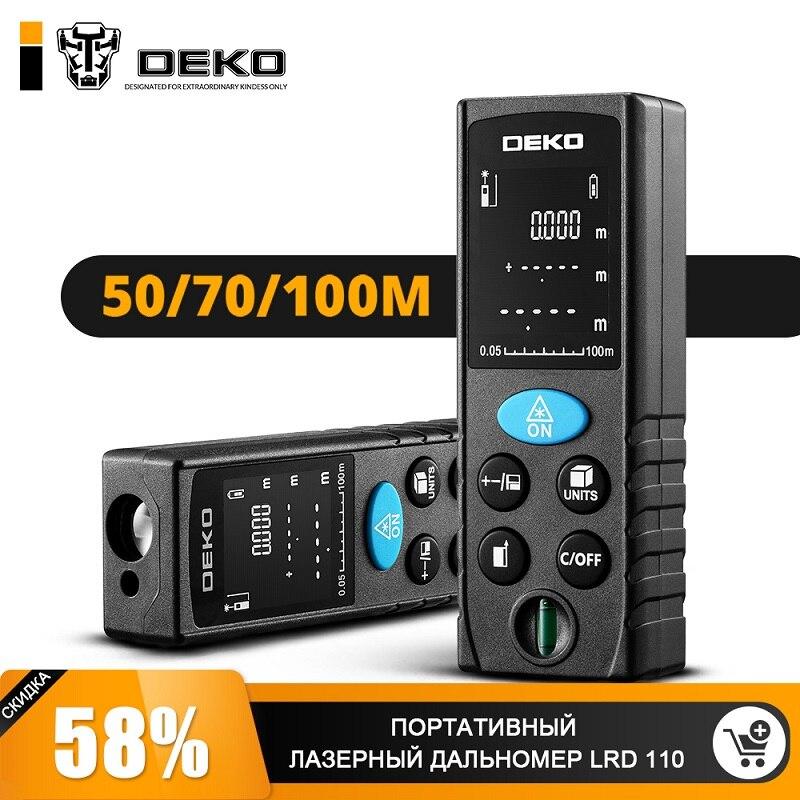 Laser Range Finder DEKO LRD110-100m Mini Laser Rangefinder Laser Tape Range Finder Diastimeter Measure digital laser distance meter 1pc 40 60 80 100m range finder measure diastimeter