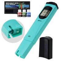 Digital Pen type pH & Temperature Meter ATC, 0.00 14.00pH & 0.0 55.0degC Water Quality Tester Kit Thermometer for Aquarium Pool