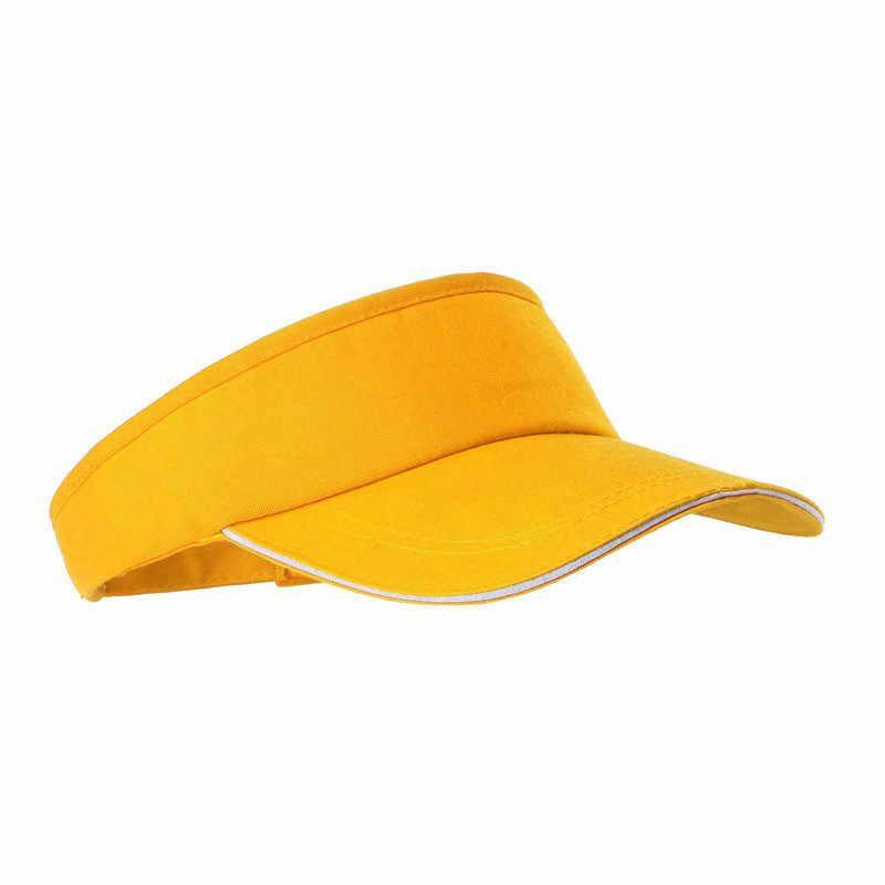 หมวกสีทึบผู้ชายและผู้หญิงมาราธอนกีฬาเทนนิสหมวกไม่มีหมวกชายหาดหมวกกีฬากลางแจ้ง