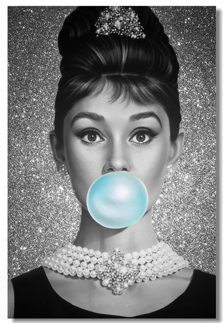 Custom Canvas Wall Art Audrey Hepburn Poster Audrey ...