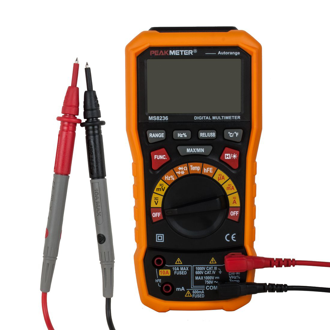 UXCELL Digital Multimeter Ac/ Voltage Current Resistance Capacitance Frequency Temperature Tester Meter 600mv/6v/60v/600v/1000v peakmeter pm18c digital multimeter measuring voltage current resistance capacitance frequency temperature hfe ncv live line te