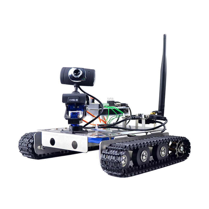 Xiao R DIY Smart Robot GFS FPGA Wifi Video Control Tank with Camera Gimbal Compatible for Arduino Science Intelligence Models