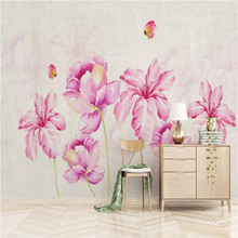 Romantic bedside background wall high-grade cloth manufacturers wholesale wallpaper mural photo