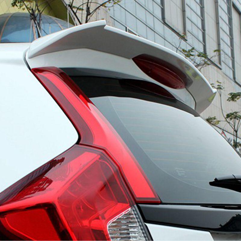 For Honda fit/jazz Spoiler High Quality ABS Material Car Rear Wing Primer Color Rear Spoiler For Honda Fit B Spoiler 2014-2016 for lancer spoiler evo abs material car rear wing primer color rear spoiler for mitsubishi lancer evo spoiler 2010 2014