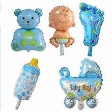 5PCS Mini dětská sada Balónky Baby Sprchová fólie Balón pro první narozeniny Party Happy Birthday Boys Dívky Balony Dekorace (