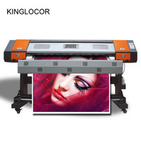 2,2 м 7,5 футов 90 дюймов Открытый XP600 6 цветов Лучшая цена рулон цифровой струйной печати фото баннер Стикеры винил принтер, плоттер