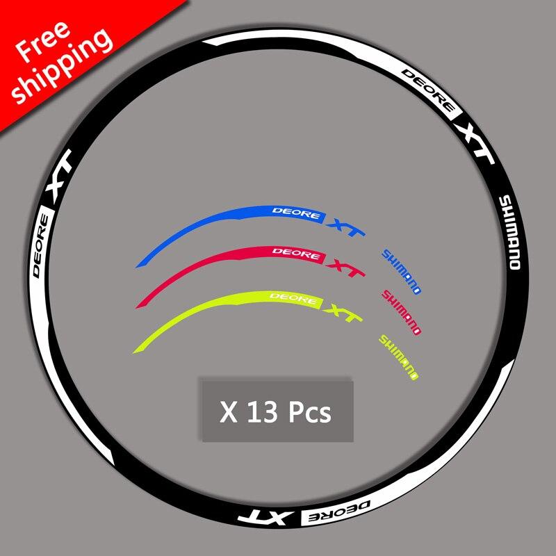 Etiquetas jante MTB Mountain bike bicicleta adesivos Para SHIMANO XT M785 substituição decalques