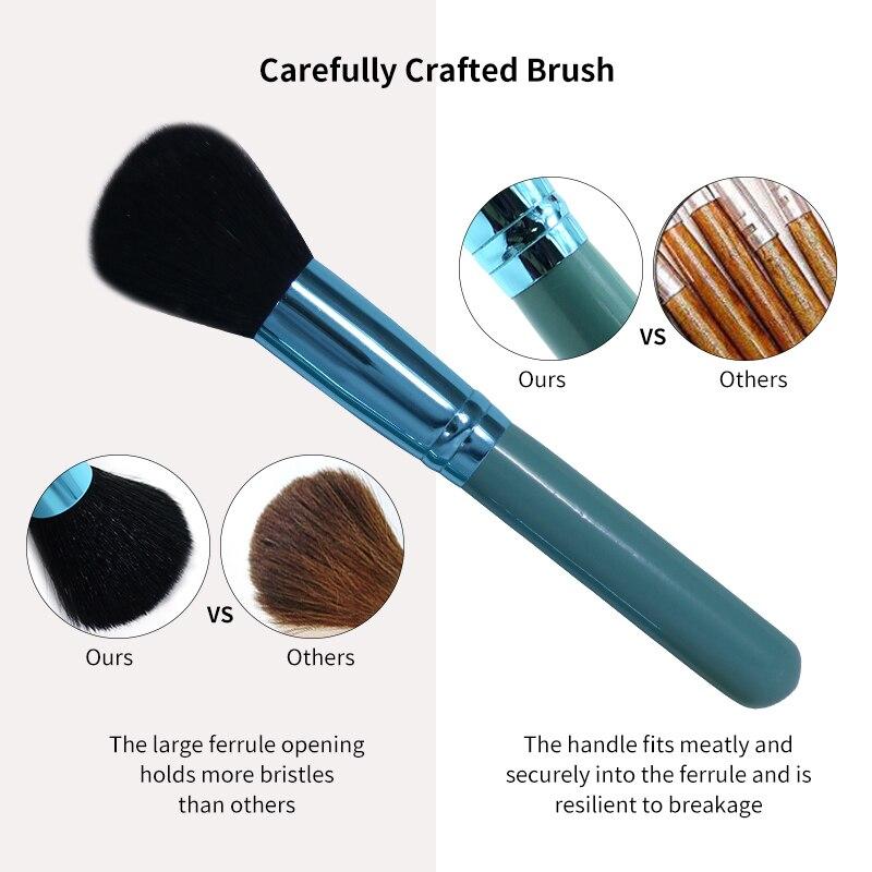 Princess Rose 12st Make Up Brush Set Makeup Brushes Kit Pinceis - Smink - Foto 4