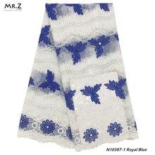 Mr. Z 2019 последняя африканская французская кружевная ткань высокого качества Тюль Кружевная Ткань 5 ярдов вышивка нигерийская кружевная ткань для женщин