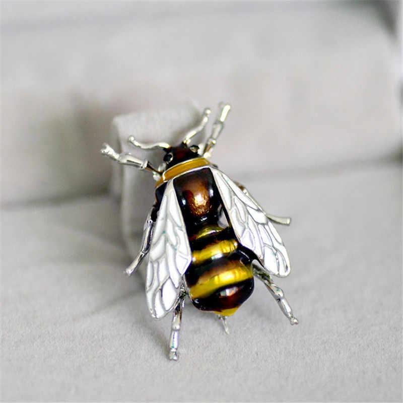 Модные эмалированные Броши пчелы ювелирные изделия унисекс насекомые брошь Подарки для женщин и мужчин милые маленькие значки на рюкзак Оптовая цена