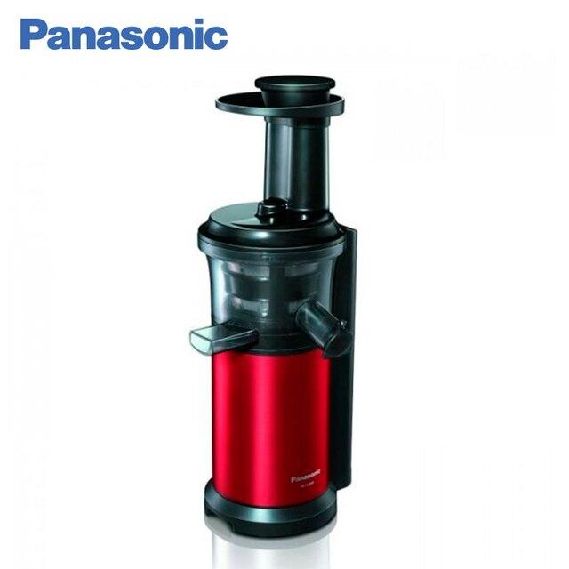 Panasonic MJ-L500RTQ шнековая соковыжималка, функция АНТИКАПЛЯ, насадка для замороженных фруктов и овощей, потребляемая мощность 150 Вт, емкость для сока 0,9 л, емкость для сбора мякоти 1,2 л.