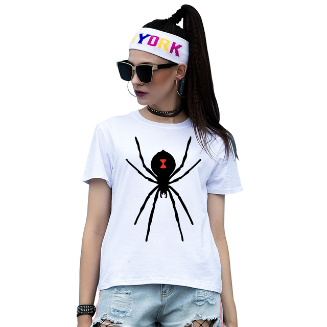 Super Cute Ragno Cartone Animato T Shirt Manica Corta Delle Donne