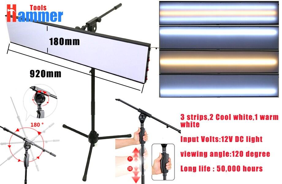 Paintless Дент Ремонт Tool Kit лампы Светоотражающая Борде 12 В PDR King лампа доска с регулируемым держателем