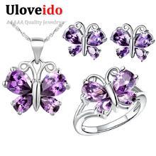 Uloveido бабочка бижутерия комплекты ювелирные наборы украшения