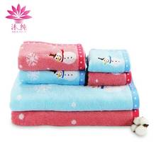 muchun Snowflake Sports Camping Face Towel 100% Cotton Fabric Soft Square Hand Washcloth Rectangle Spa Shower Bath