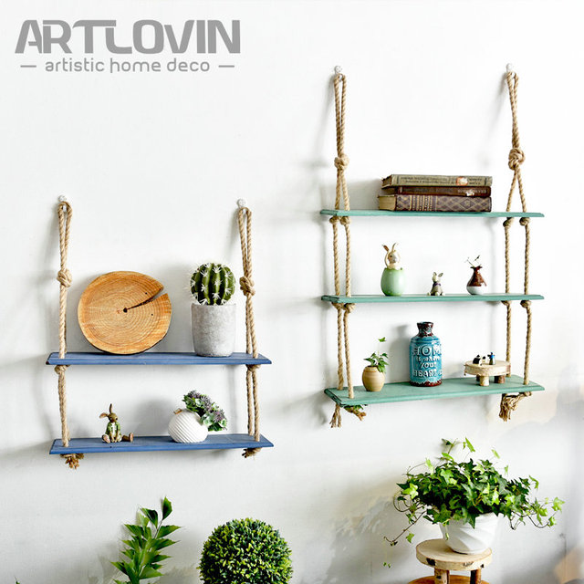 New Arrival Vintage Decorative Wall Shelf Wood For Book And Artificial  Flower Wooden Home Decor Retro