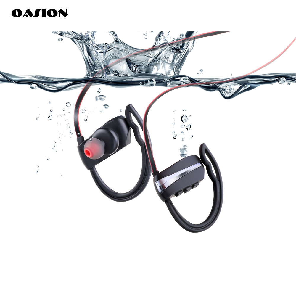 OASION sports earphones bass waterproof handsfree bluetooth ear wireless bluetooth headset for phone HEADPHONES WITH MICROPHONE high quality wireless headphones bluetooth headset with microphone nfc hifi music wireless earphones for phone hands free
