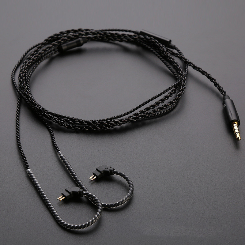 Leory trn кабель наушников 0.75 мм контактный Спорт стерео HiFi наушники жильный кабель с микрофоном/без микрофон съемный аудио кабель