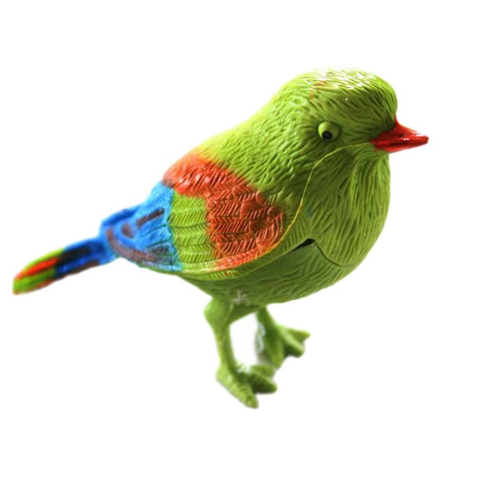 New Arrival Vivid Animal Birds Toys Creative Gift Natural Bird Singing Voice Sound Control Activate Kid Child Toy