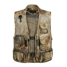 Summer New Breathable Multi Pockets Vest Men Outdoors Sleeveless Military Tactical Mesh Vest Camo Shooting Journalist Jacket