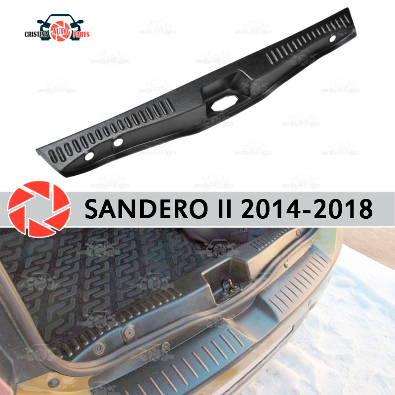 Pokrywa na próg listwa bagażnika dla Renault Sandero 2014-2018 bagażnika krok płyta wewnętrzna akcesoria wykończenia ochrona samochodu stylizacji