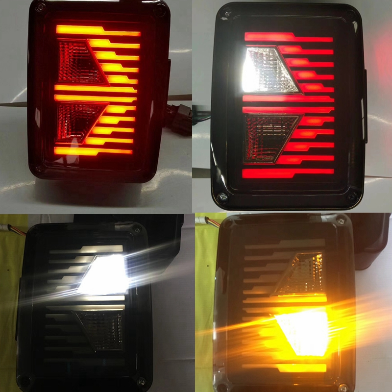 цена на LED Tail Light For jeep Wrangler JK Brake / Reverse / Turn Signal Lamp Back Up Rear Parking Stop Light Daytime Running DRL Light