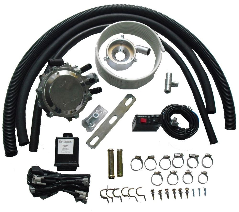 LPG Mixer System Conversion kit with Cylinder Multivalve for Bi fuel Dual Fuel font b Cars