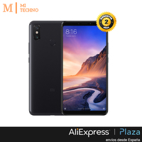 Глобальная версия, Xiaomi Mi Max 3 4 Гб + 64 ГБ, черный, Google Play и кастильский установлен, экран 6,9 '', 5500 мАч батарея.
