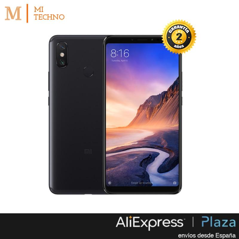 Mondial Version, Xiao mi mi Max 3 4 GB + 64 GO, Noir, google play et Castillan installé, L'écran 6,9 '', 5500 batterie mah.