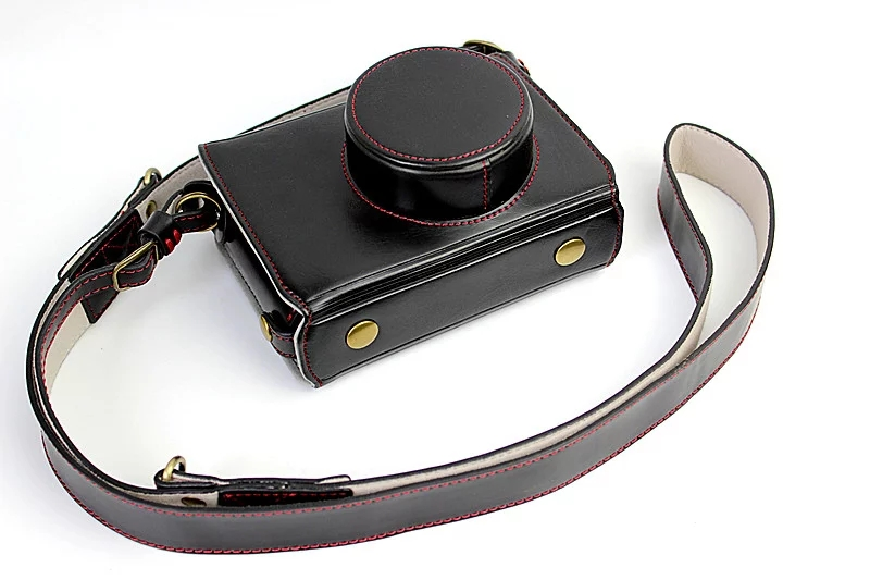 New Luxury PU Leather Video camera <font><b>case</b></font> bag for Fujifilm <font><b>FUJI</b></font> X100 <font><b>X100S</b></font> X100T With Strap Open battery 3 Color image